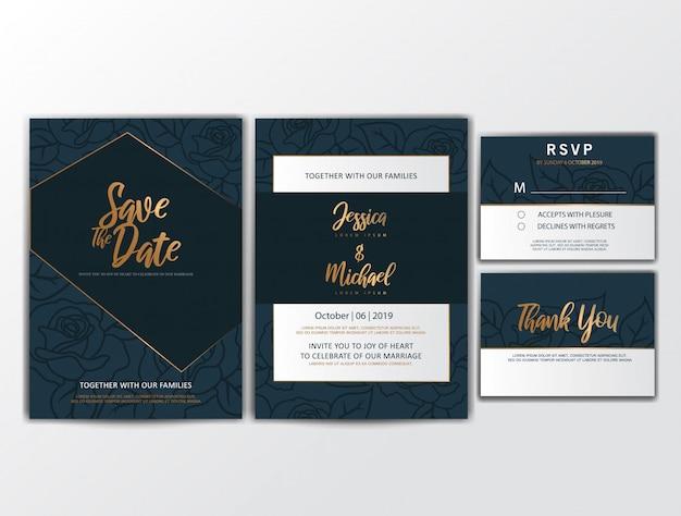 Hochzeits-einladungskarten mit verzierung