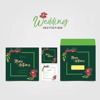 Hochzeits-einladungskartenschablone