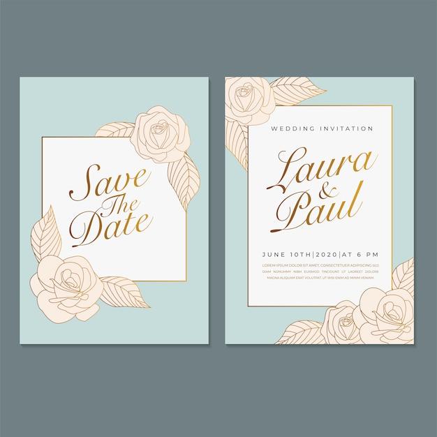 Hochzeits-einladungsschablone