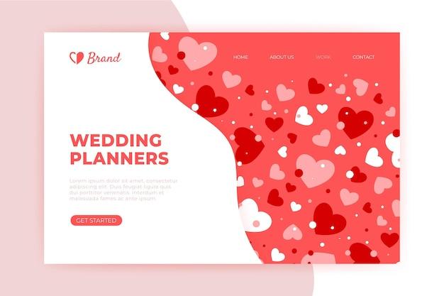 Hochzeits-landingpage-vorlage