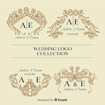 Hochzeits-logo-sammlung