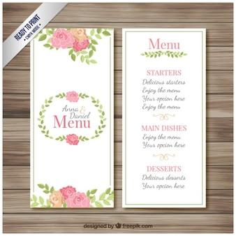 Hochzeits-menü-broschüre