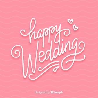 Hochzeits-schriftzug