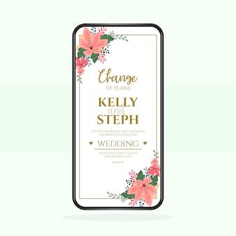 Hochzeitsansage verschoben
