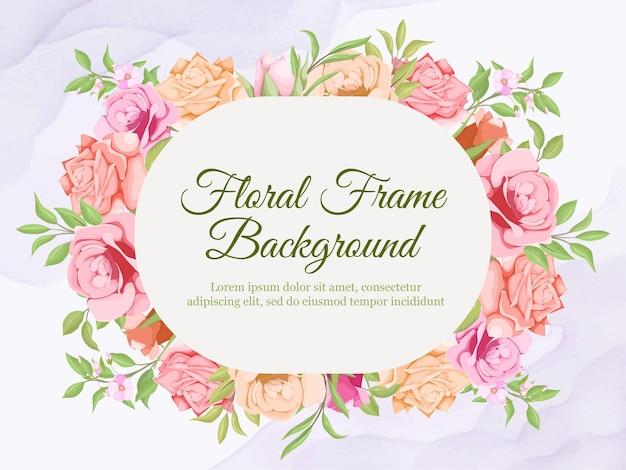 Hochzeitsbanner sommer floral vector template design