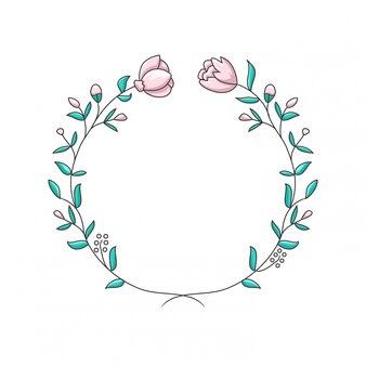 Hochzeitsblumen einfacher cartoon