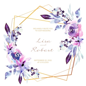 Hochzeitsblumenrahmen-einladungskarte