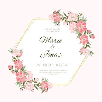 Hochzeitsblumenrahmen