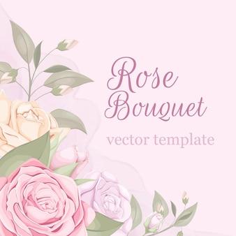 Hochzeitsblumenstrauß mit rose und blatt