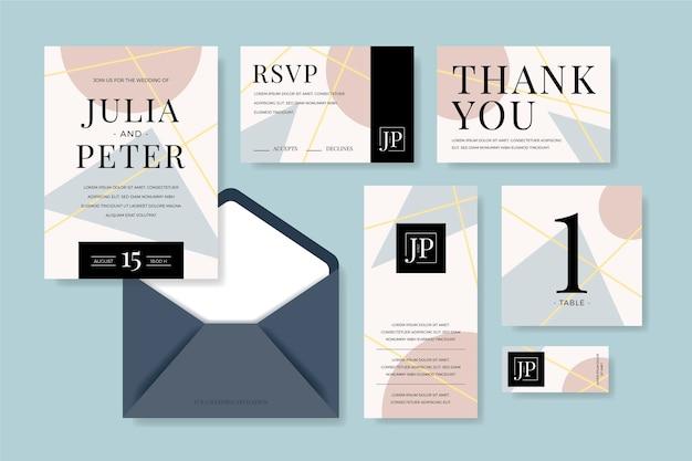 Hochzeitsbriefpapier im abstrakten stil