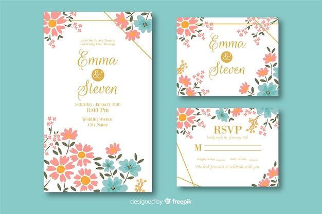 Hochzeitsbriefpapier-schablonensammlung
