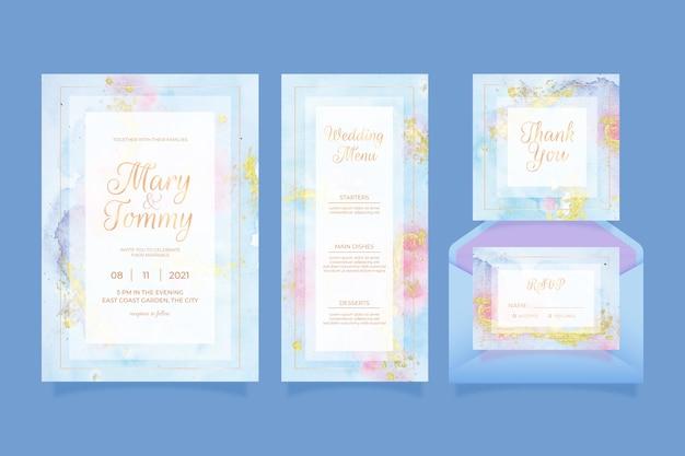 Hochzeitsbriefpapierkonzept