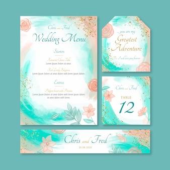 Hochzeitsbriefpapiervorlage