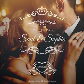 Hochzeitsdesign mit paaren