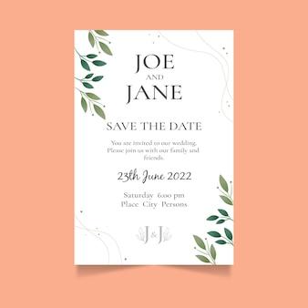 Hochzeitseinladung des minimalistischen stils