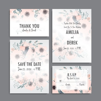 Hochzeitseinladung eingestellt