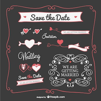 Hochzeitseinladung grafikelemente