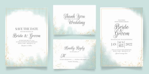 Hochzeitseinladung mit aquarellhintergrund