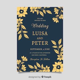 Hochzeitseinladung mit floralen elementen