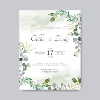 Hochzeitseinladung mit schönem und elegantem blumen