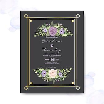 Hochzeitseinladung mit schönen floralen elementen
