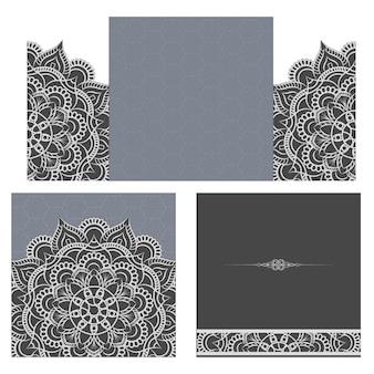 Hochzeitseinladung oder karte mit abstraktem hintergrund.