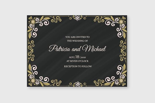 Hochzeitseinladung retro vorlage