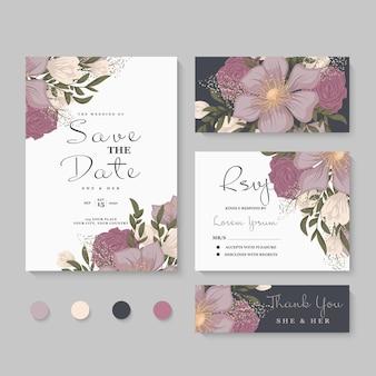 Hochzeitseinladung, speichern sie das datum.