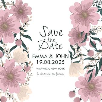 Hochzeitseinladung. speichern sie die datumskarte.