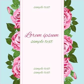 Hochzeitseinladungen mit rosa rosen