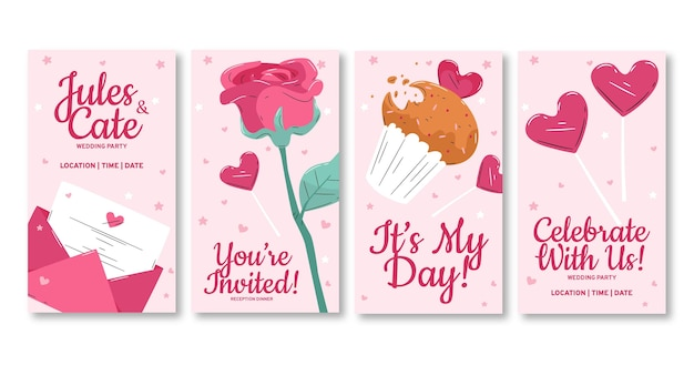 Hochzeitseinladungs-instagram-geschichte