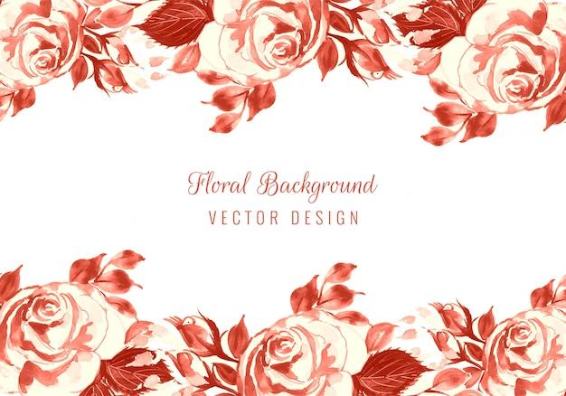 Hochzeitseinladungsaquarellblumenkarte