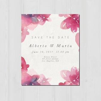 Hochzeitseinladungsentwurf
