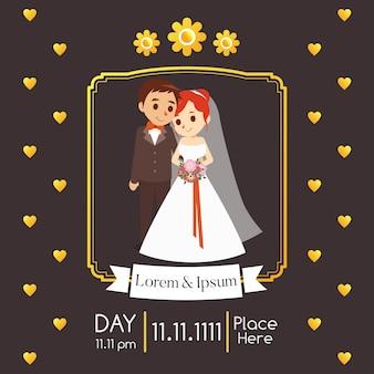 Hochzeitseinladungsillustration