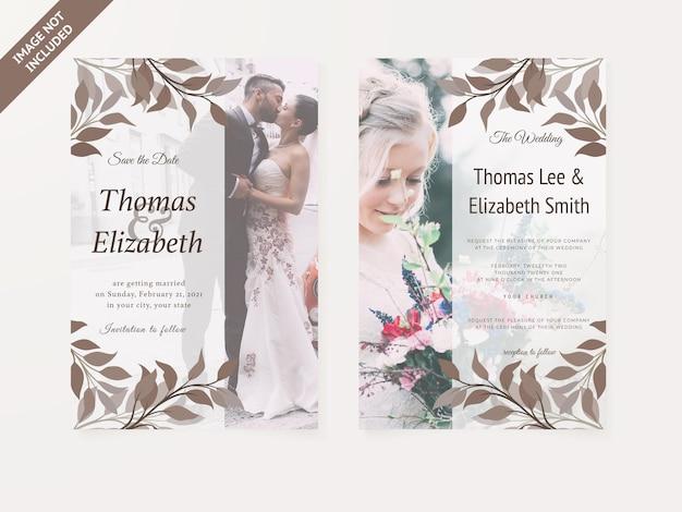 Hochzeitseinladungskarte blumenmuster vorlage