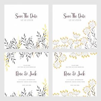 Hochzeitseinladungskarte doppelseitig