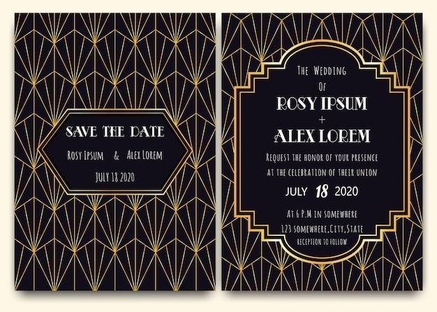 Hochzeitseinladungskarte mit blumenvorlagensammlung.