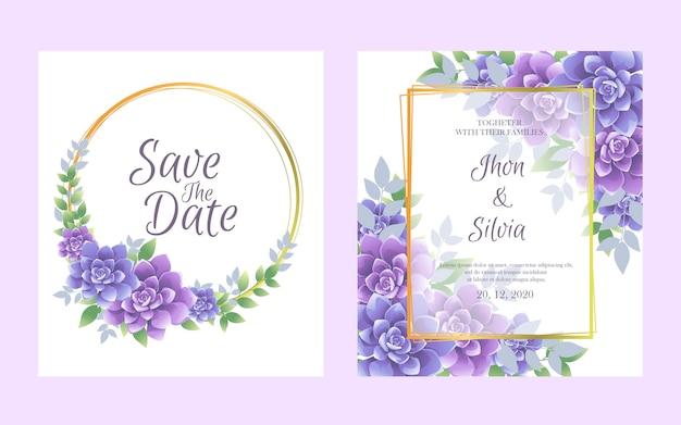Hochzeitseinladungskarte mit schönen blumen