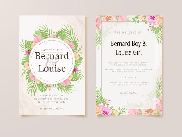 Hochzeitseinladungskarte sommer blumen