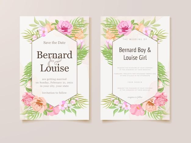 Hochzeitseinladungskarte sommer blumenkonzept