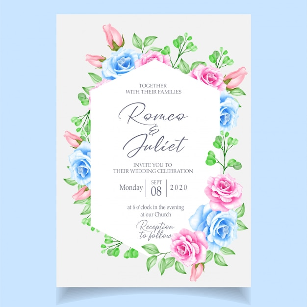 Hochzeitseinladungskarte vorlage