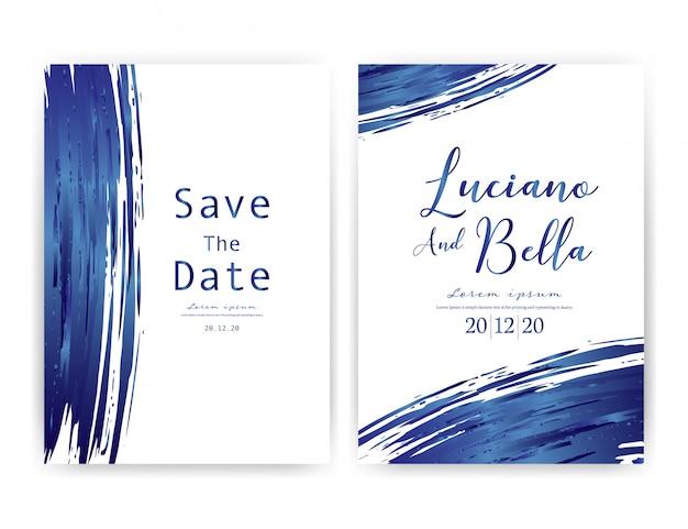 Hochzeitseinladungskarte.