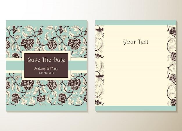 Hochzeitseinladungskarten mit floralen elementen