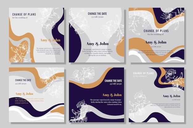 Hochzeitseinladungskarten mit flüssigem effekt