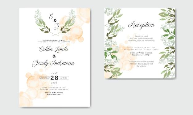 Hochzeitseinladungskarten mit schönen blumen
