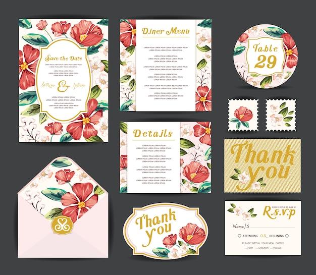 Hochzeitseinladungskarten.