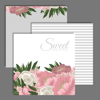 Hochzeitseinladungskartensuite mit blume schablone