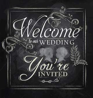 Hochzeitseinladungskreide