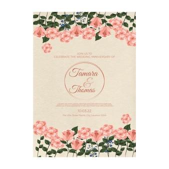 Hochzeitseinladungsplakatschablone