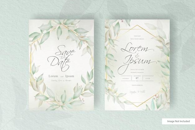 Hochzeitseinladungsschablone der grünen blumenanordnung